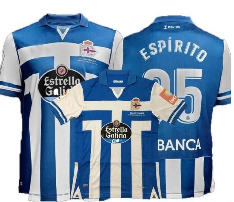 20 21 Deportivo La Coruna maillots de jersey home away Coruna 2020 2021 white shirt S-2XL