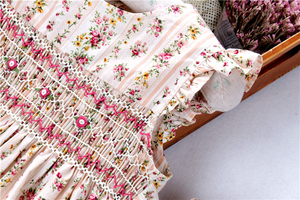 Image 4 - summer smocked dresses for girls flower dress ruffles bishop handmade embroidery princess wedding  boutiques childrens clothing