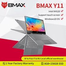 Bmax y11 portátil 11.6 Polegada quad core intel n4120 n4100 1920*1080 ips tela 8gb lpddr4 ram 256gb ssd rom notebook windows10