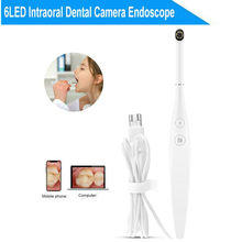 Oral Dental Intraoral Camera 720P Dental Camera Endoscope 6LED USB Micro-check Inspection camera Oral Real-time endoscopio(China)