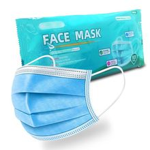 متوفر في المخزون 3 طبقات آمنة لمكافحة الغبار للأذن أقنعة الوجه غير المنسوجة Meltblown القماش الشخصية المتاح المضادة للحساسية قناع الوجه الفم