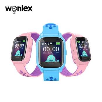 Reloj inteligente Wonlex KT04 a prueba de agua para niños, llamada de emergencia, Smartwatch antipérdida para bebé, 2G, reloj con tarjeta SIM, rastreador de localización, teléfono