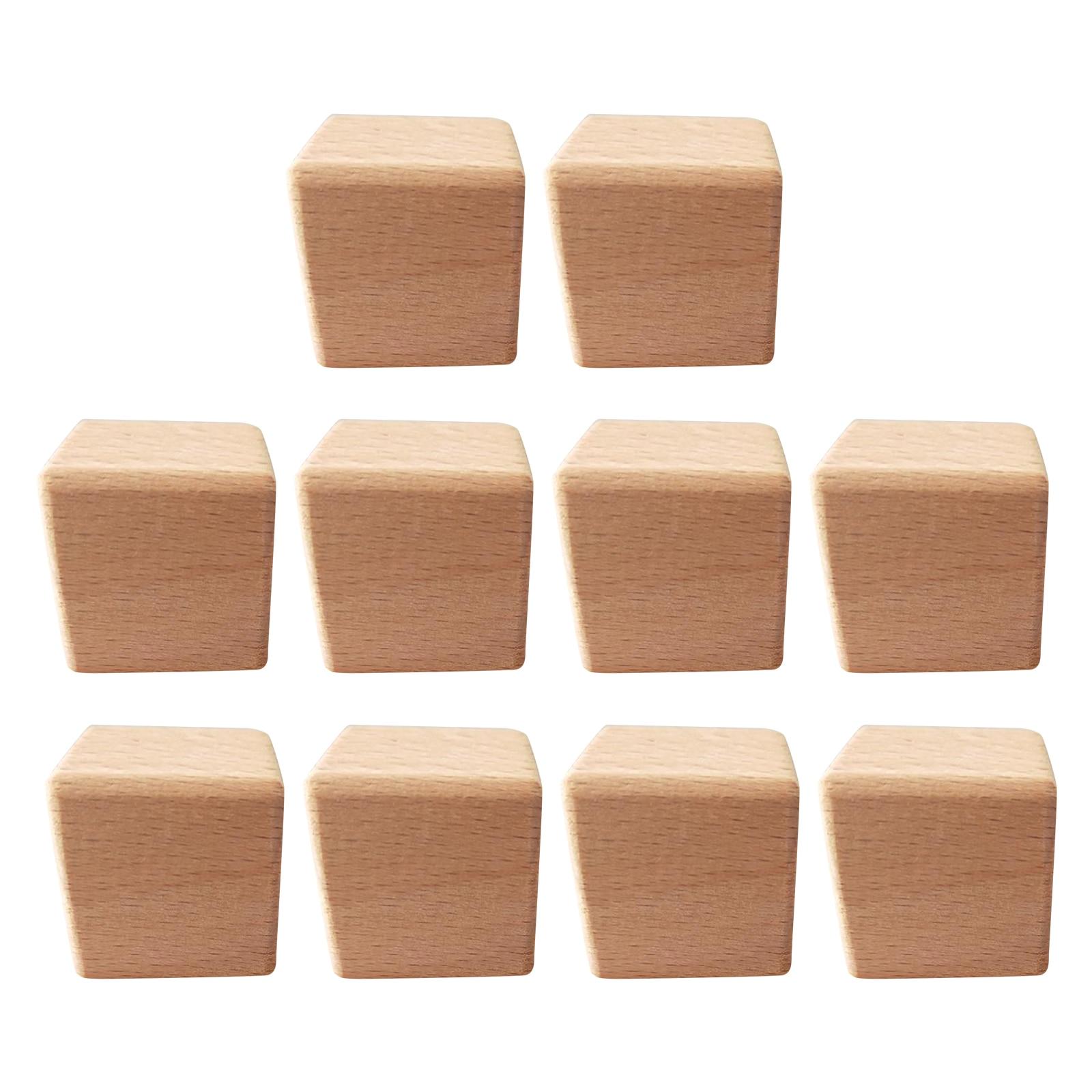 10 шт деревянные канцелярские товары блоки деревянные кубики с квадратными каблуками для DIY деревообрабатывающий расходные материалы
