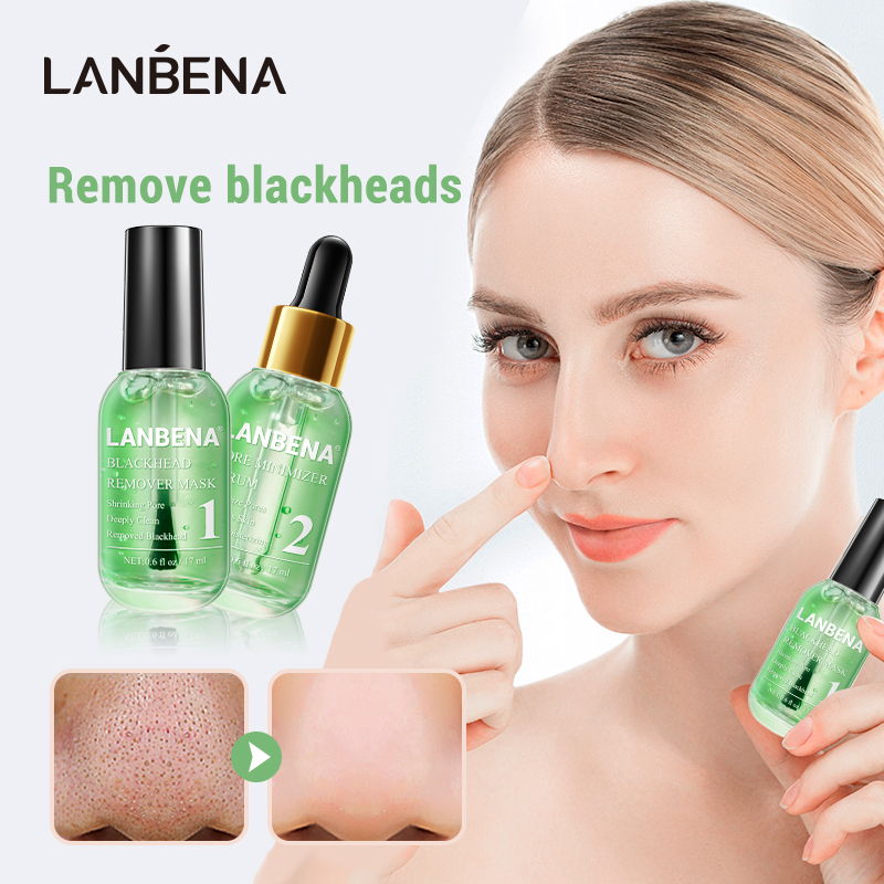 LANBENA Face Mask Blackhead Remover Serum New Style Quick Drying Fragrance Non Stick Finger Facial Deep Cleaning Shrink Pores
