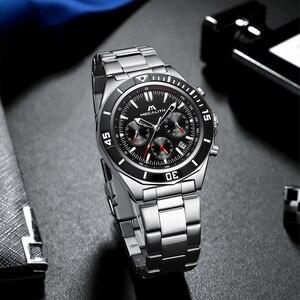 Image 2 - MEGALITH Männer Voller Stahl Uhr Sport Wasserdichte Uhr Männer Leucht Chronograph Uhren Marke Luxus Uhr Relogio Masculino 8206