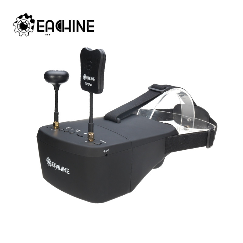 ev800d diversity 5 - Eachine EV800D 5.8G 40CH 5 Inch 800*480 Video Headset HD DVR Diversity FPV Goggles With Battery For RC Model RC Drone Parts