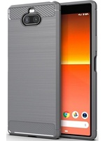 Case Sony Xperia 8 color Gray (gray), carbon series, caseport