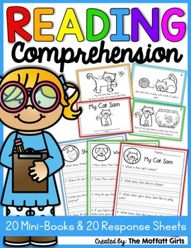 Reading Comprehension Packet! Beginning Readers Learning English Reading, Short Stories, Phonics Homeschool PDF Electronic File