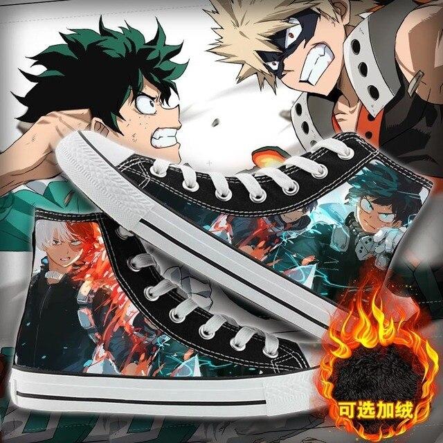 Acquista WHOHOLL Giapponese Cartoon Anime Print Scarpe Di