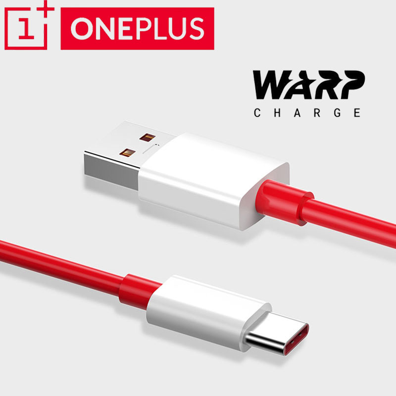 <font><b>Oneplus</b></font> 7t pro Cable Original one plus 7 7t 6 <font><b>6t</b></font> 5 5t 3 3t <font><b>smartphone</b></font> Warp Charger Quick Charging Cable USB 6A type C warp cable image