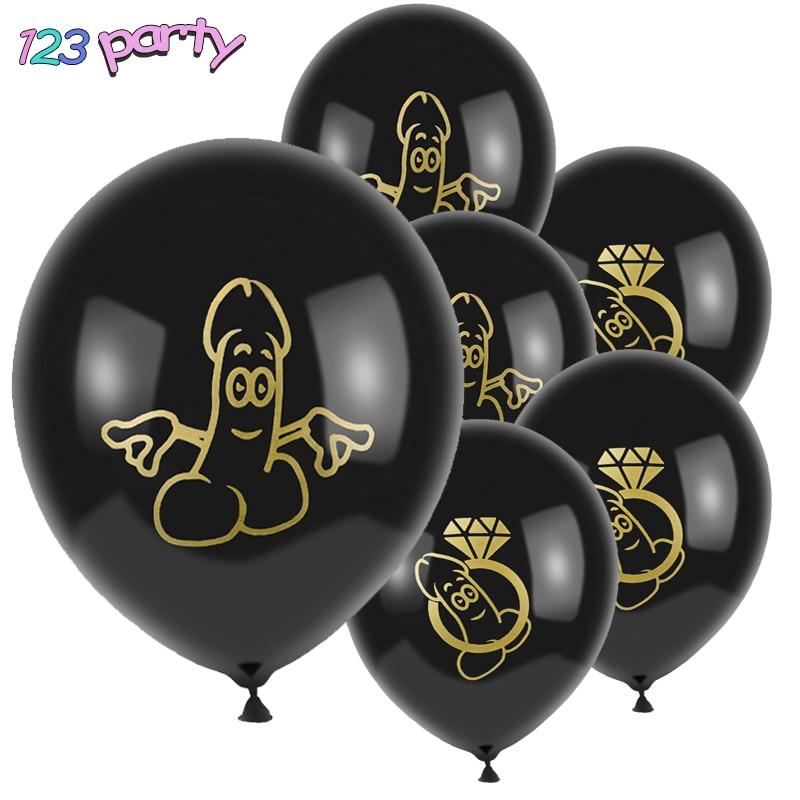 10 шт., латексные воздушные шары в виде пениса для мальчишника
