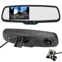 2 In1 Car Parking Assistance Record System Night Vision CCD Car Rear View Camera + Special Bracket 1080P Car DVR Record Monitor