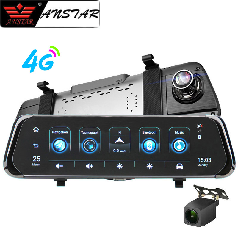 Anstar 10 4G Car RearView Mirror DVR Android 5 1 HD 1080P Video Recorder Dash Cam