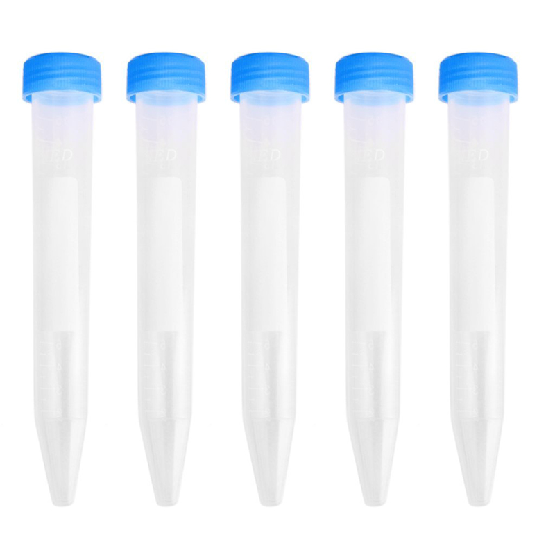 5 Pcs 15 Ml Plastic Measuring Cylinders Centrifuge Tubes Labortest With Caps