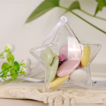 Transparent Plastic Star Shape Ball Flower Plant Container Home Wedding Party Christmas Hanging Candy Box Decoration