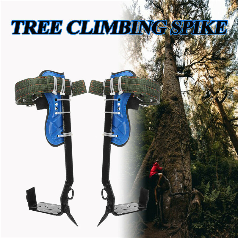 Multifunction Five Claws Tree Climbing Spike Set Safety Belt W/Gear Adjustable Lanyard Stainless Steel Climbing Accessories