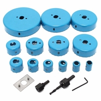 Top Blue Hole Saw Cutting Set Kit Tool 19 127 Mm Wood Metal Alloys Carbon Steel Cutting Circular Saw Blade With Case|Pliers| |  -