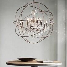 Candelabro de cristal Orb Vintage para restaurante candelabros de vela rústicos de mediados de siglo decoración de sala de estar iluminación de Iglesia