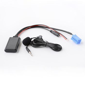 Biurlink, Radio para coche, micrófono de Audio Bluetooth, adaptador de micrófono manos libres, ISO de 8 pines para Volkswagen Gamma 5 MFD Sharan Lupo Polo 6N2 9N