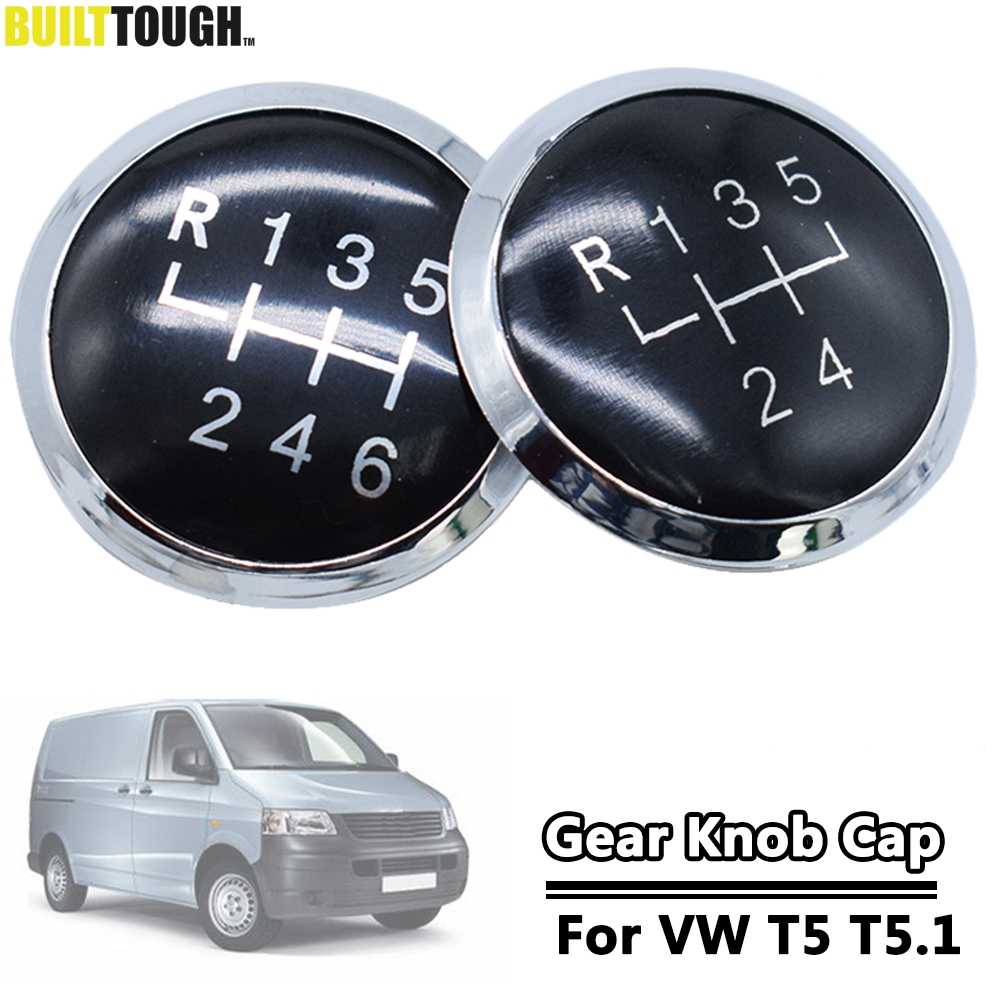 5/6 Speed Gear Shift Knob Badge Emblem Cap Cover Replacement For Volkswagen VW Transporter T5 T6 Gp 2003-2019