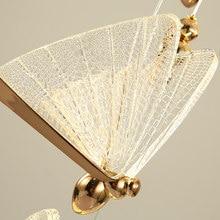 Nordic Light Luxury Butterfly Pendant Lights Bee Butterfly Children's Lamp Bedside Small Pendant Lamp Single Head Stair Lamp