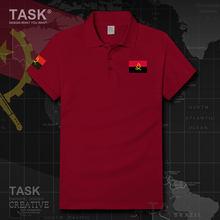 Esercito Repubblica di Angola Angolan FA paese Tattico Militare manica Corta Polo shirt in cotone di estate casuale pullover di Sport Mens
