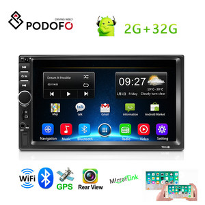 Podofo Android 8.1 2 Din Car Multimedia Player7