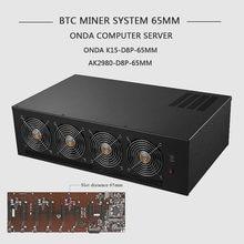 Btc equipamento de mineração caso eth servidor quadro usb mineiro rack para onda AK2980-D8P k7 k15 65mm B250-D8P-D3 2980 55mm 8 gpu cartão chassi