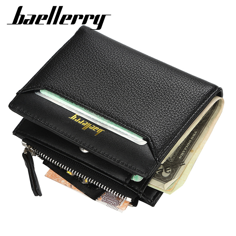 Pocket Wallet Card-Holder Clutch Money Purse Zipper Coin-Bag Short Fashion Men