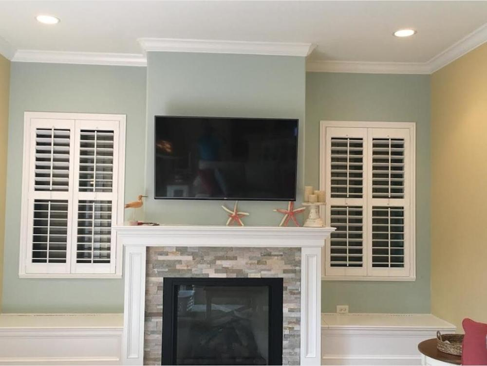 Custom Basswood Plantation Shutters Wooden Blinds Solid Wood Shutter Louvers PS232