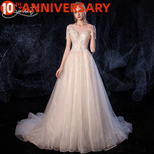 OllyMurs Luxury Royal Wedding Dress Off The Shoulder Applique Cathedral 100cmCrystal White Style Embroidery Flower Lace flower applique off shoulder bodysuit
