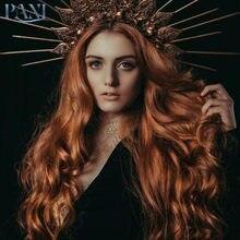 Pani orange парики женский длинный парик с глубокой волной синтетические