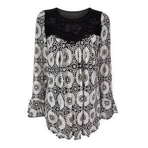 Image 3 - YTL Womens Plus Size Elegant Mature Floral Loose Tunic Top Shirt Sleeve Oversize Blouse Holiday Summer Shirt 6XL 7XL 8XL H036