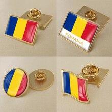 Герб Румыния румынские карта Национальный флаг Эмблема с национальным цветочным брошь значки нагрудные знаки