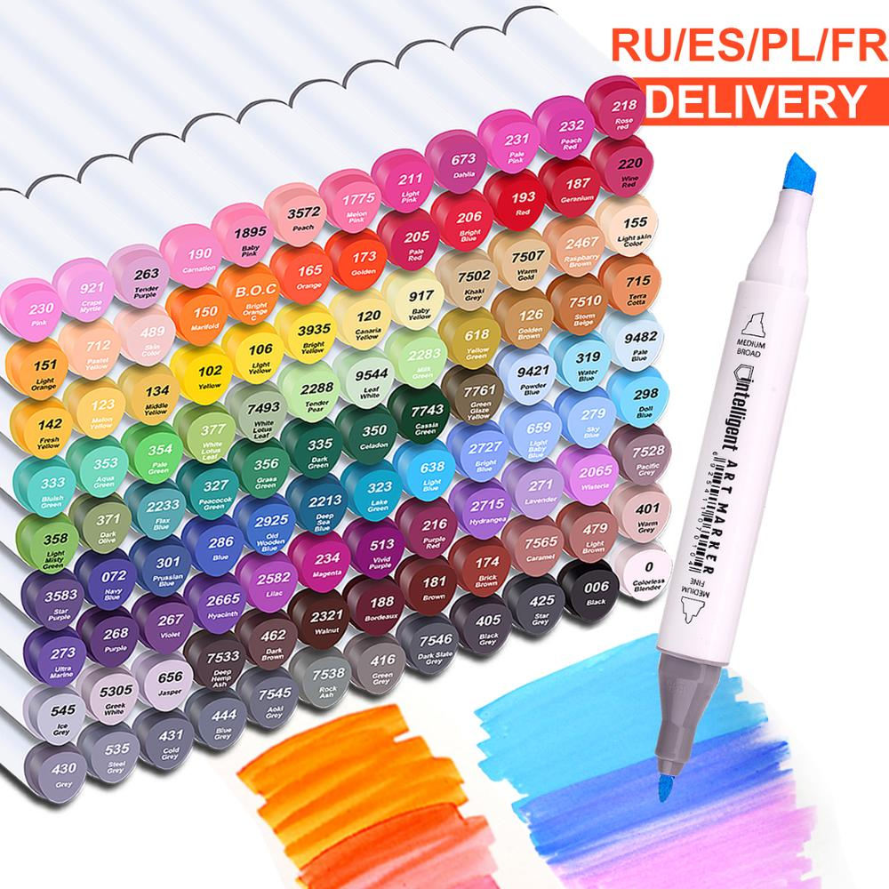 Touchnew Marker-Pen Art-Supplies Alcohol Manga Drawing Dual-Tips Sketch School Set 40/60/80/168-colors