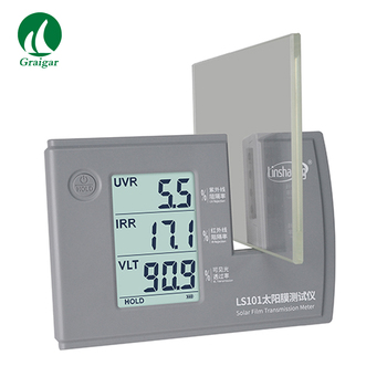 New Upgrade LS101 Solar Film Transmission Meter UV/IR/VL Meter Powered by Batteries