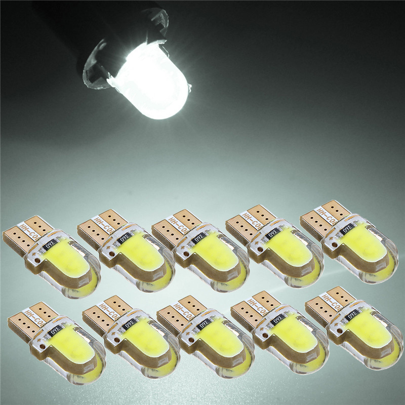 10Pcs LED Auto Bulbs Interior Lights 168 194 COB Turn Signal Clearance Lights License Plate Light Trunk Lamp Dropshipping