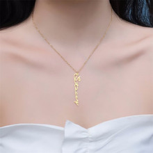 HIYONG Custom Necklace Personalize Choker Women Vertical Name Pendant Fascinating Jewelry Gifts