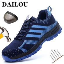 Protective Safety Work Boots Shoes For Men Indestructible Steel Toe Cap Shoes All Season Working Boots Security Work Shoes 2021