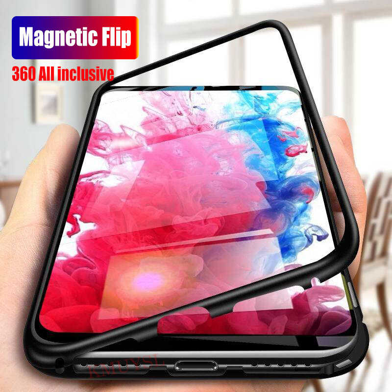 Magnetic Flip Case For Huawei Y9 Y7 Y6 Y5 P Smart 2019 Glass Cover For P20 Lite P30 Pro Mate 20X 10 Lite Honor 8X Nova 5 5i 3i 4