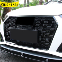 For Audi A4 S4 A5 S5 B9 2017 2020 Car Front Grille Grills Net Assembly Frame Decorations Auto Replacement Exterior Parts