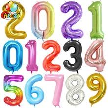 40 Polegada balões de aniversário da folha grande número de hélio balão 0-9 feliz aniversário decorações da festa de casamento chuveiro grandes figuras globos