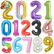 40 zoll Großen Folien Geburtstag Luftballons Helium Anzahl Ballon 0-9 Glücklich Geburtstag Hochzeit Party Dekorationen Dusche Große Figuren globos