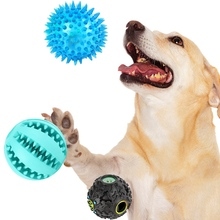 3 Pcs Dog Toy Set Leak Food Balls Teeth Cleaning Non Toxic Bite Resistant Chew Rubber Ball