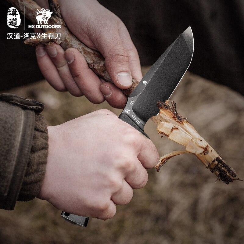 HX на открытом воздухе TD 13 охотничий прямой тактический нож фиксированные ножи, D2 лезвие, G10 ручка, спасательный инструмент для выживания кемпинга, Прямая поставка - 3