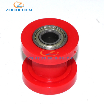 Red ID 8mm Red ATV Pulley Tensioner Chain Roller For Chinese Pit Dirt Bike Coolster SSR IMR Motorcycle Motocross image