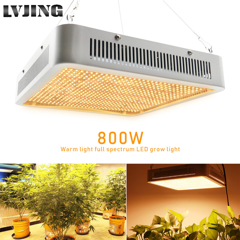 Full Spectrum 800W LED Grow Light Warm White Red UV IR Leds Phyto Lamp For Indoor Plants Hydroponics Vegetables Flower Grow Tent