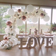 Juego de guirnaldas de globos blancos para decoración, arco de globo blanc dorado, decoración para boda, despedida de soltera, fiesta de cumpleaños, decoración para bebé, niño y niña S6XN
