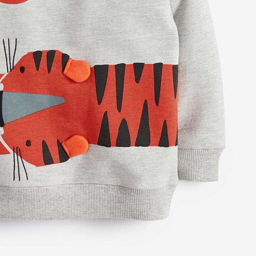 Little Maven 2021 Autumn Boy Brand Clothes Children Hoodies & Sweatshirts Boy Cotton Sweater Animal Print Kids Sweatshirts 51775 2