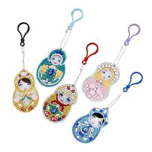 DIY Painting Special Shaped Diamond Painting Doll Russia Cartoon Key Embroidery Bag Chain fullcang diy 5pcs full square diamond embroidery horror movie 5d diamond painting cross stitch mosaic needlework kits sale d907